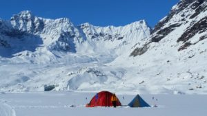 Camp on a Glacial Lake